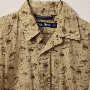 Nautica cotton long sleeve shirt size Sm